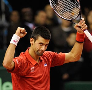 Djokovic wins, takes Serbia closer to Davis Cup quarters