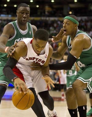 Raptors hold off Celtics 84-79