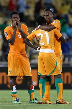 Drogba leaves African Cup without title as Ivory Coast shocked in quarters