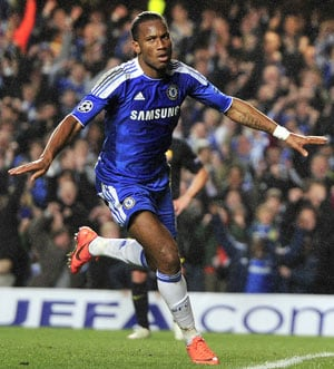 Advantage Chelsea as Drogba strike stuns Barcelona