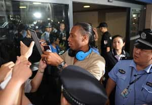 Didier Drogba gets a rousing welcome in China