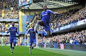 Didier Drogba powers Chelsea's win against Stoke