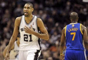 Tim Duncan leads San Antonio Spurs over Golden State Warriors