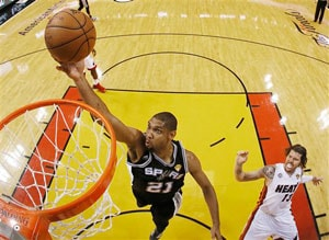 NBA finals: Miami Heat beat San Antonio Spurs in overtime, force Game 7