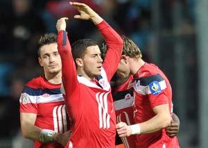 Ferguson 'scouts Hazard' at Lyon-Lille match