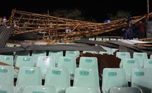 IPL: Kolkata's Eden Gardens' billboard collapses