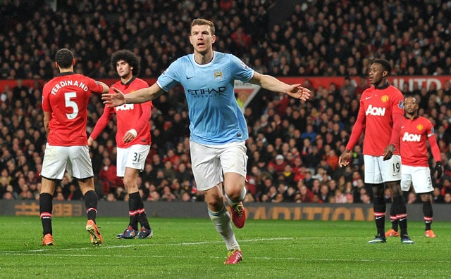 Manchester United F.C. lose derby as Edin Dzeko brace does it for City
