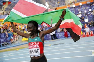 Edna Kiplagat makes history by retaining marathon title at World Athletics meet