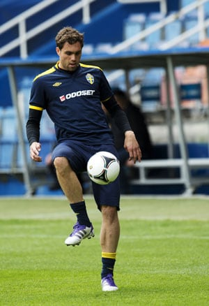 UEFA Euro 2012: Elmander comes through Swedish training