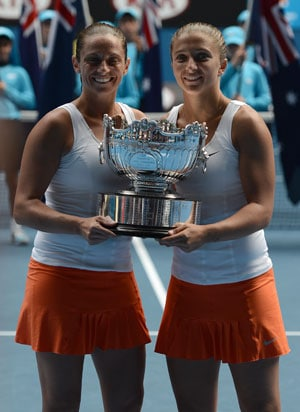 Italian pair Sara Errani and Roberta Vinci win Australian Open doubles title