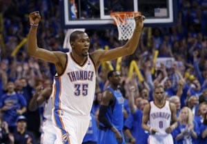 Durant game-winner lifts Thunder past Mavericks, 99-98