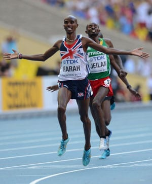 Haile Gebrselassie salutes Mo Farah ahead of Great North Run