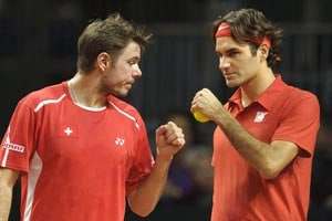Federer says there is no rift with Wawrinka