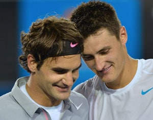 Bernard Tomic admits being unnerved by Roger Federer title list
