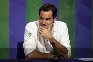 Wimbledon 2012: Roger Federer humbled by sporting legends