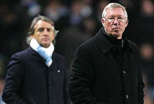 Ferguson praises Mancini for boosting Manchester City