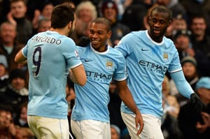 EPL: Manchester City overwhelm Arsenal to stake title claim