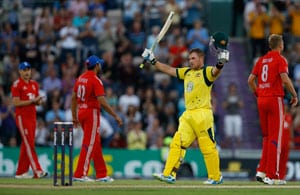First T20: Aaron Finch blasts world-record 156 in Australia victory