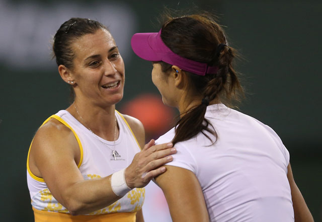 Flavia Pennetta topples Li Na to reach Indian Wells final