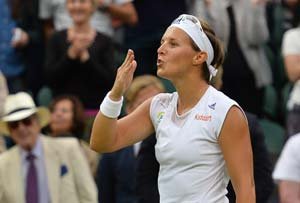 Wimbledon 2013: Underdog Flipkens defeats Kvitova to reach semi-finals
