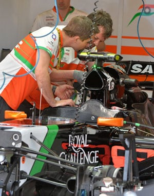 Australian Grand Prix: Force India racing ahead oblivious of owners' plight