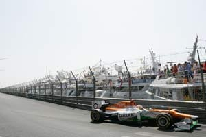 Monaco F1: Sahara Force India in fifth and seventh row