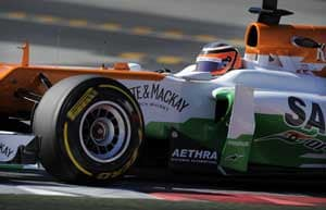 Tough second day of testing for Force India