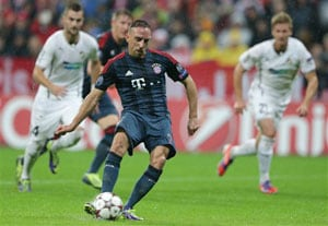 Hip surgery rules out Franck Ribery from Bavarian derby against Nuremberg