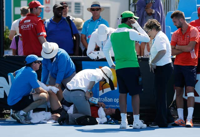 Record number of pull-outs as Australian Open swelters