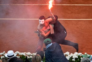 French Open final hit by same-sex marriage protest