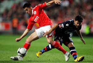 Benfica ends Braga's run as leader with win