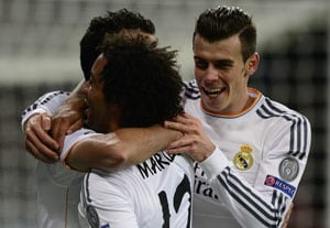 UEFA Champions League: Gareth Bale on target as Real Madrid cruise into last 16