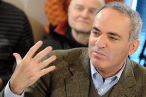 Kasparov discloses contracts with federation official