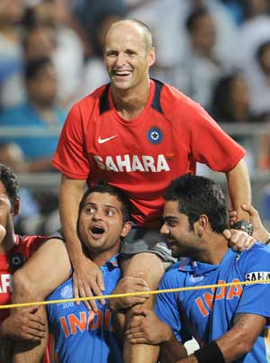 Kirsten has been a father figure, says Raina