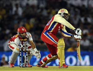 IPL 5: Gayle powers Royal Challengers Bangalore to 5-wicket win