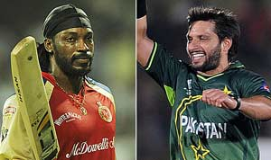 Gayle, Afridi named icon players in Sri Lanka Premier League