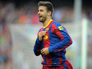 Barcelona's Gerard Pique out for 3 weeks
