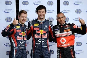 Webber takes pole position at Nurburgring