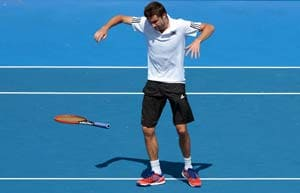 Gilles Simon hurts ankle to send Richard Gasquet into Kooyong final