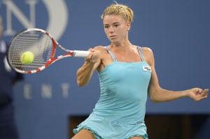 US Open: Tiny blonde bombshell Camila Giorgi goes wild