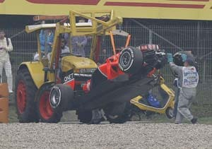 Timo Glock declared fit after smash in Chinese GP