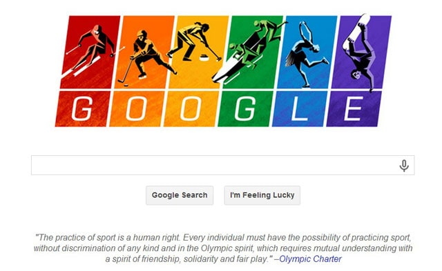 Google Doodle flies gay flag quotes Olympic Charter