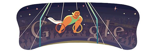 London 2012 Artistic Gymnastics Mens Rings: The latest Google Doodle