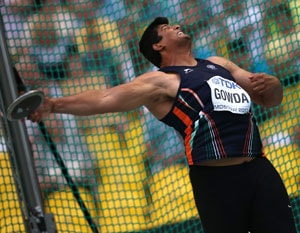 Discus thrower Vikas Gowda finishes seventh in World Athletics Championships