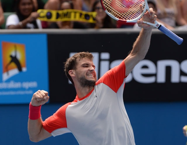 Australian Open: 'Baby Fed' Grigor Dimitrov into first Slam quarters