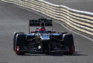Grosjean fastest again in testing in Barcelona