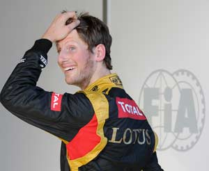 Abu Dhabi Grand Prix: Romain Grosjean on top of opening practice