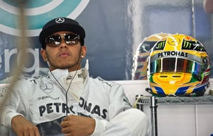Australian Grand Prix: Lewis Hamilton leads Mercedes one-two in second practice
