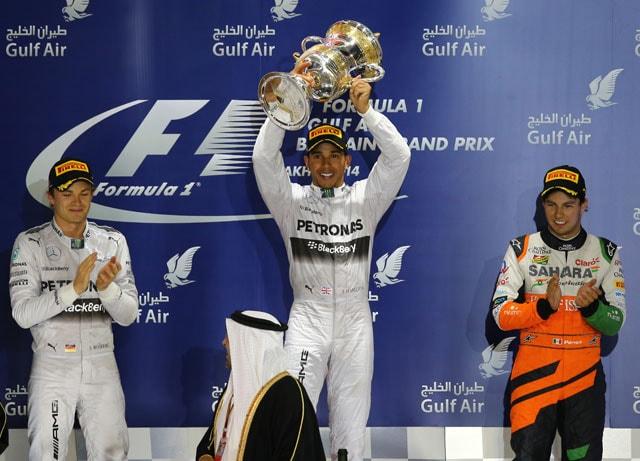 Lewis Hamilton wins Bahrain Grand Prix, Force India's Sergio Perez finishes third