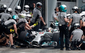 Malaysian Grand Prix: Lewis Hamilton takes pole position